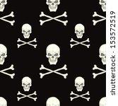seamless background with skull   Shutterstock .eps vector #153572519