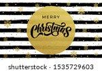 merry christmas golden... | Shutterstock .eps vector #1535729603