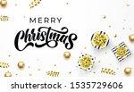 merry christmas golden... | Shutterstock .eps vector #1535729606