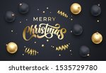 merry christmas golden... | Shutterstock .eps vector #1535729780