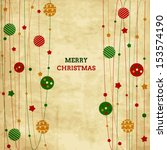 vintage christmas card with...   Shutterstock .eps vector #153574190