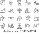 rehabilitation line icon set....   Shutterstock .eps vector #1535764280