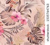 vector seamless botanical... | Shutterstock .eps vector #1535764763