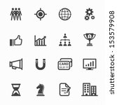 business icons and finance... | Shutterstock .eps vector #153579908