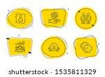 developers chat  teamwork... | Shutterstock .eps vector #1535811329