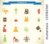 energy and industry icon set in ... | Shutterstock .eps vector #153582560