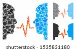 dialog signal mosaic of rough... | Shutterstock .eps vector #1535831180