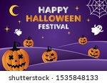 happy halloween festival...   Shutterstock .eps vector #1535848133