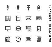 office icons | Shutterstock .eps vector #153588374