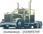 classic american truck vector... | Shutterstock .eps vector #1535893709