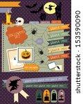 happy halloween scrapbook... | Shutterstock .eps vector #153590090