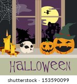happy halloween | Shutterstock .eps vector #153590099