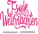lettering in german merry... | Shutterstock .eps vector #1535909033