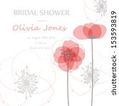 wedding card or invitation with ... | Shutterstock .eps vector #153593819