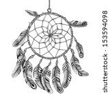 indian dream catcher in a... | Shutterstock .eps vector #153594098
