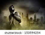 stalker against nuclear...   Shutterstock . vector #153594254