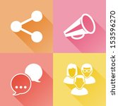 set of colorful flat icons... | Shutterstock .eps vector #153596270