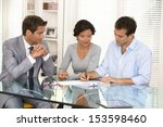 couple with real estate agent... | Shutterstock . vector #153598460