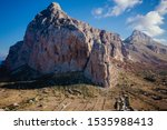 Small photo of View of Monte Monaco Rocks in San Vito Lo Capo, Cicily, Italy