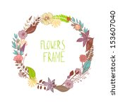 round frame composed of field... | Shutterstock .eps vector #153607040