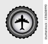 airplane bubble over gray... | Shutterstock .eps vector #153608990