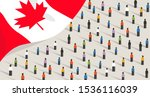 canadian independence... | Shutterstock .eps vector #1536116039