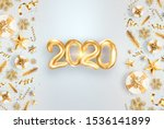 lettering 2020 happy new year.... | Shutterstock . vector #1536141899