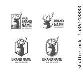 deer vintage logo collection.... | Shutterstock .eps vector #1536148883