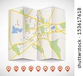 navigation map | Shutterstock .eps vector #153617618