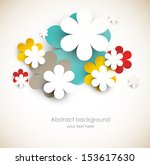 Stock vector background with abstract flowers 153617630