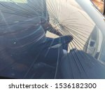 Small photo of Car windscreen breakage and safety