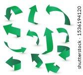 arrow stickerst various angles... | Shutterstock .eps vector #1536194120