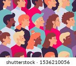 seamless profile people pattern.... | Shutterstock .eps vector #1536210056