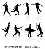 sporting silhouettes... | Shutterstock .eps vector #153622073