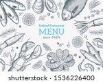 vector frame with hand drawn... | Shutterstock .eps vector #1536226400