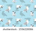 Seagull Flying Cartoon Seamless ...