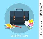 vector illustration of planning ... | Shutterstock .eps vector #1536230639