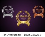 set of gold  silver and bronze... | Shutterstock .eps vector #1536236213