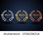 set of gold  silver and bronze... | Shutterstock .eps vector #1536236216