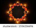 Happy Diwali   Clay Diya Lamps...