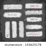 set of hand drawn doodle chalk... | Shutterstock .eps vector #153625178