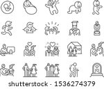 life cycle line icon set.... | Shutterstock .eps vector #1536274379