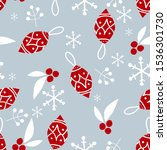 christmas elements background... | Shutterstock .eps vector #1536301730