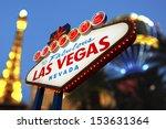 welcome to las vegas neon sign... | Shutterstock . vector #153631364