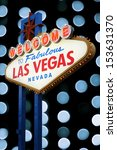 welcome to las vegas neon sign... | Shutterstock . vector #153631370