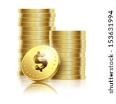 illustration of golden dollar... | Shutterstock . vector #153631994