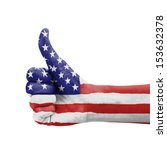 hand with thumb up  usa  united ... | Shutterstock . vector #153632378
