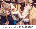 St Nicholas With His Staff And...