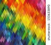 Colorful Rhombus Pattern