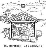 a christmas nativity scene... | Shutterstock .eps vector #1536350246